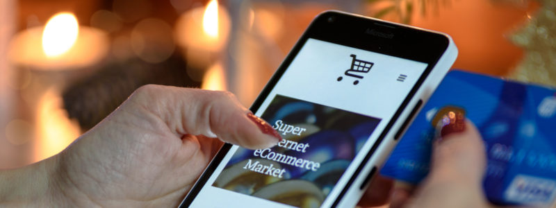 Shopping online with credit card
